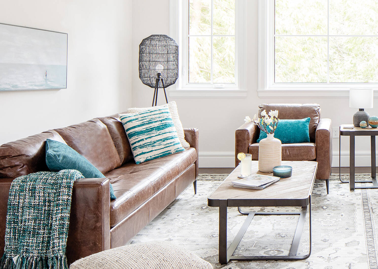 Lucca Custom Leather Sofa