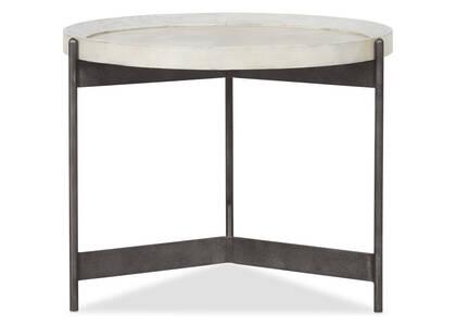 "Edward Side Table 25"" -Hudson Flurry"