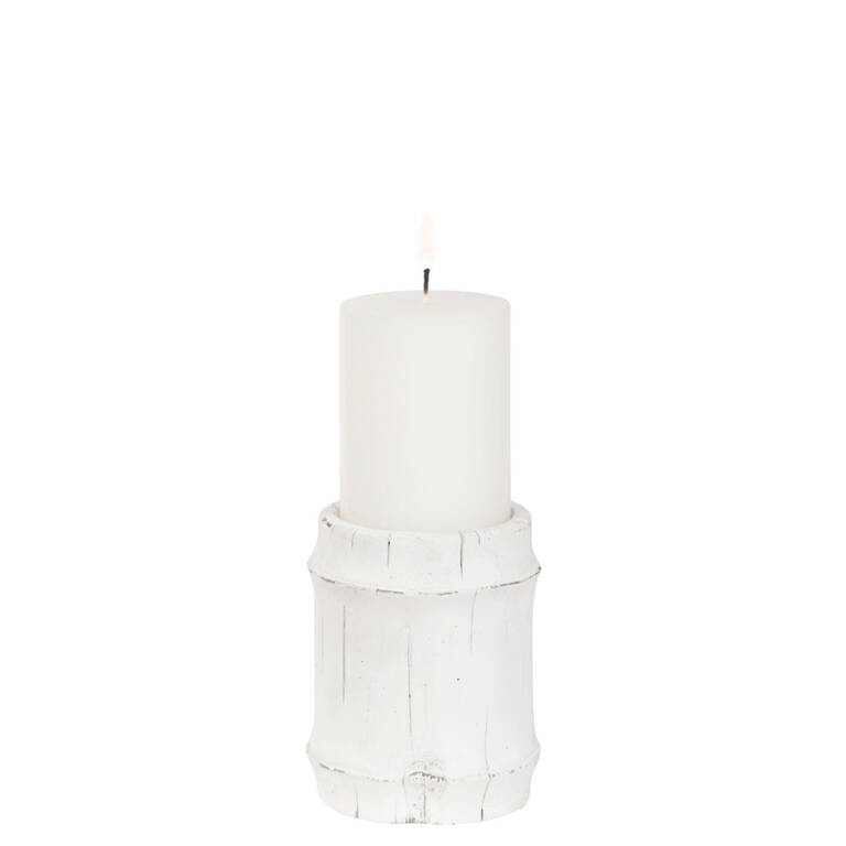 Mesa Candle Holder Small White