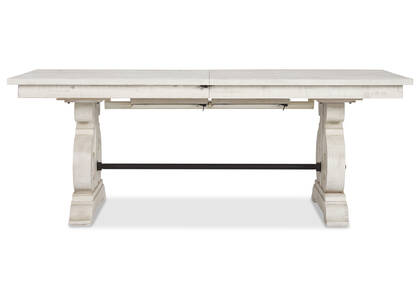 Churchill Ext Dining Table -Alabaster