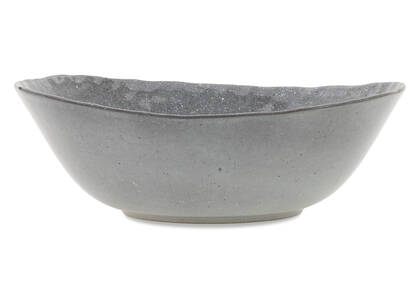 Crofton Glazed Serving Bowl Dark Grey