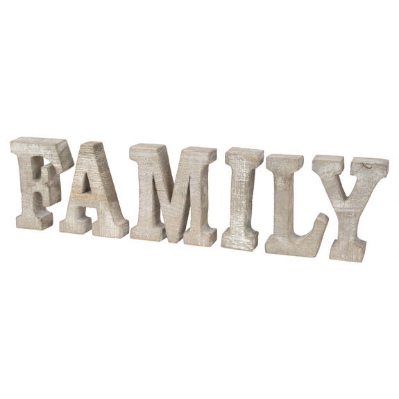 Tablette décorative Family naturelle