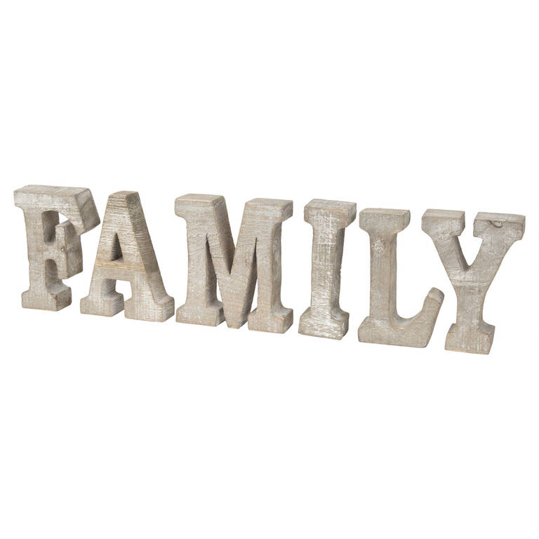 Family Shelf Decor Natural