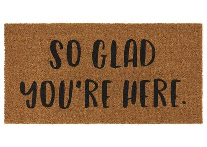 So Glad You're Here Doormat Natural