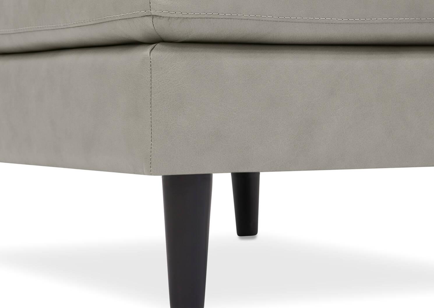 Repose-pieds en cuir Savoy 38 x 27 po personnalisé