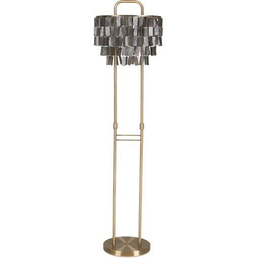Amabel Capiz Floor Lamp Brass