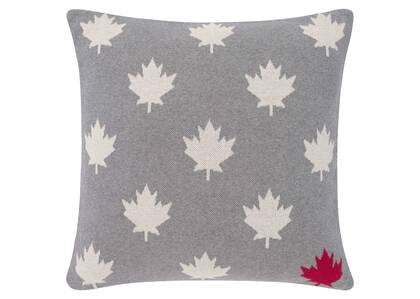 Coussin National 20x20 gris/nat./rouge
