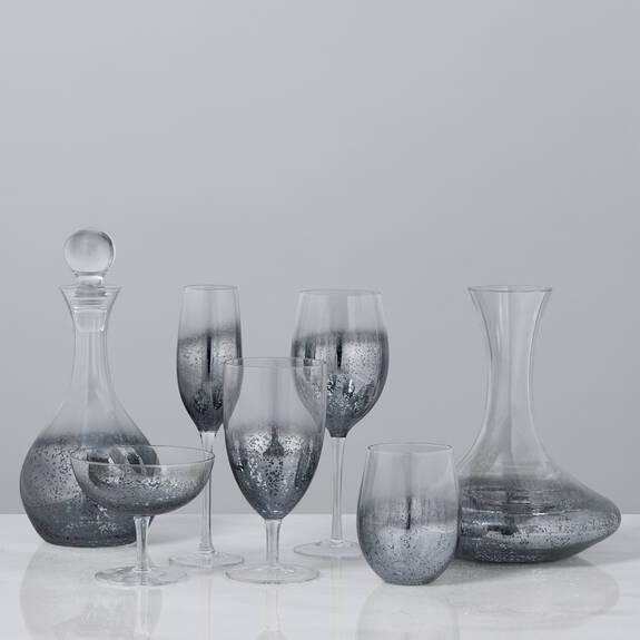 Shimmer Glassware - Silver Grey