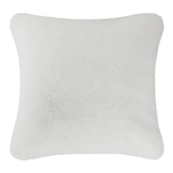 Flora Faux Fur Toss 20x20 White
