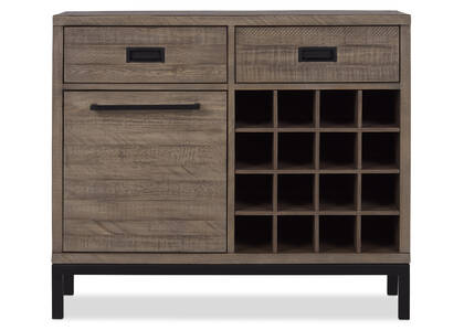 Brody Wine Cabinet -Stanton Driftwood