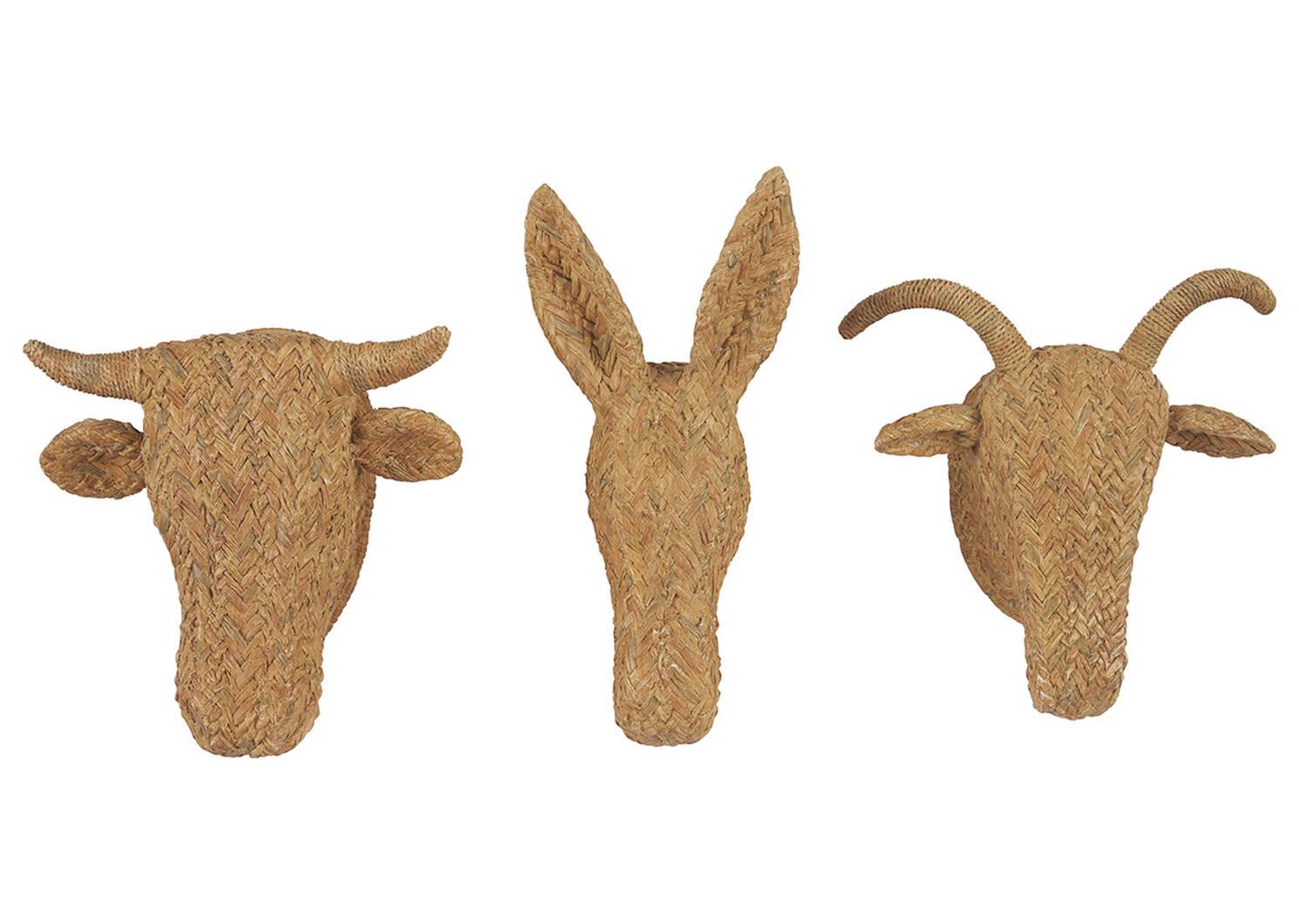 Déco murale vache Aesop naturelle
