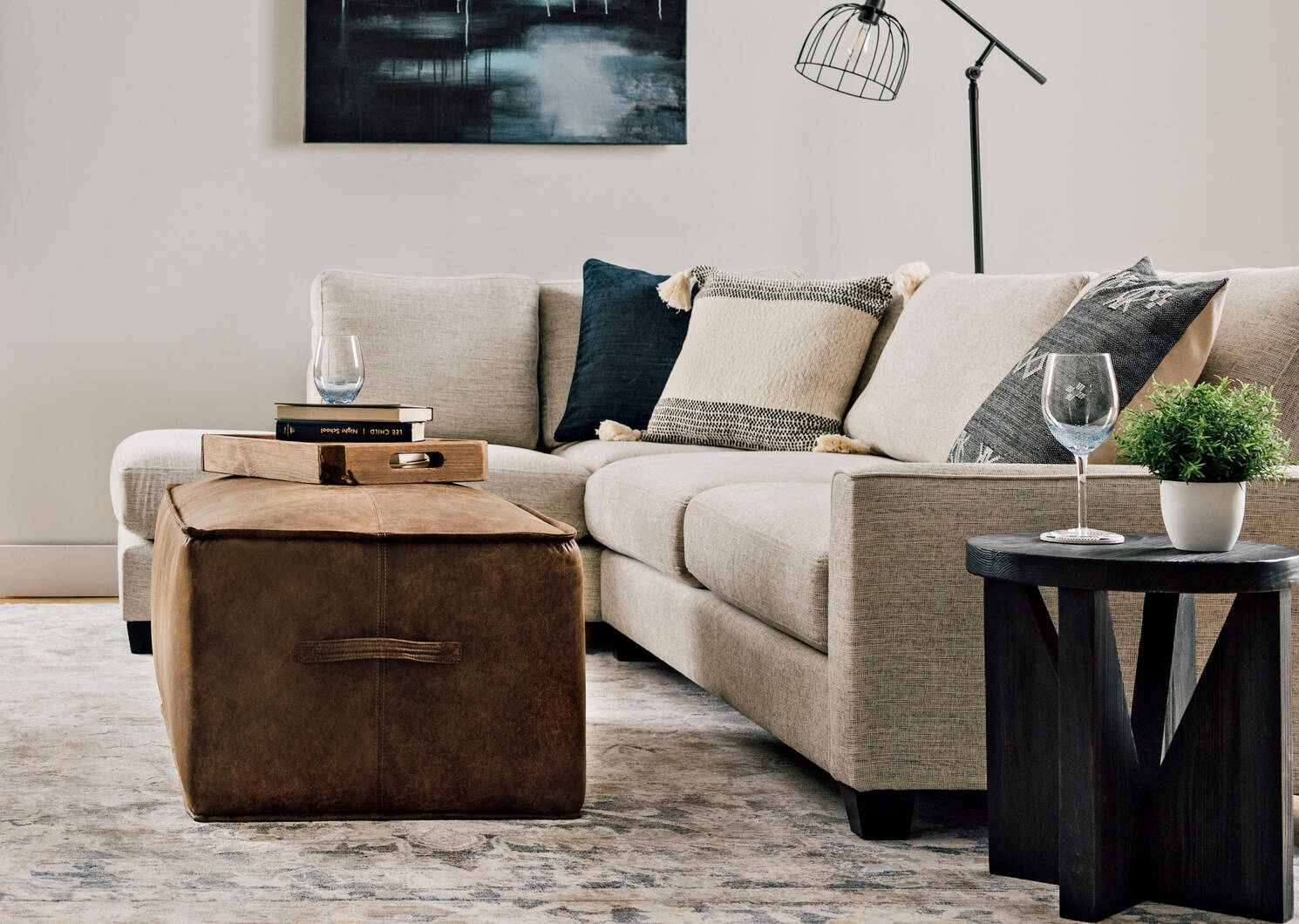 Halstead Accent Table -Adrian Graphite