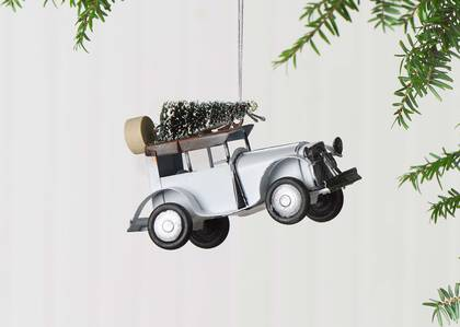 Orn. voiture ant. Tree Day Vintage Car