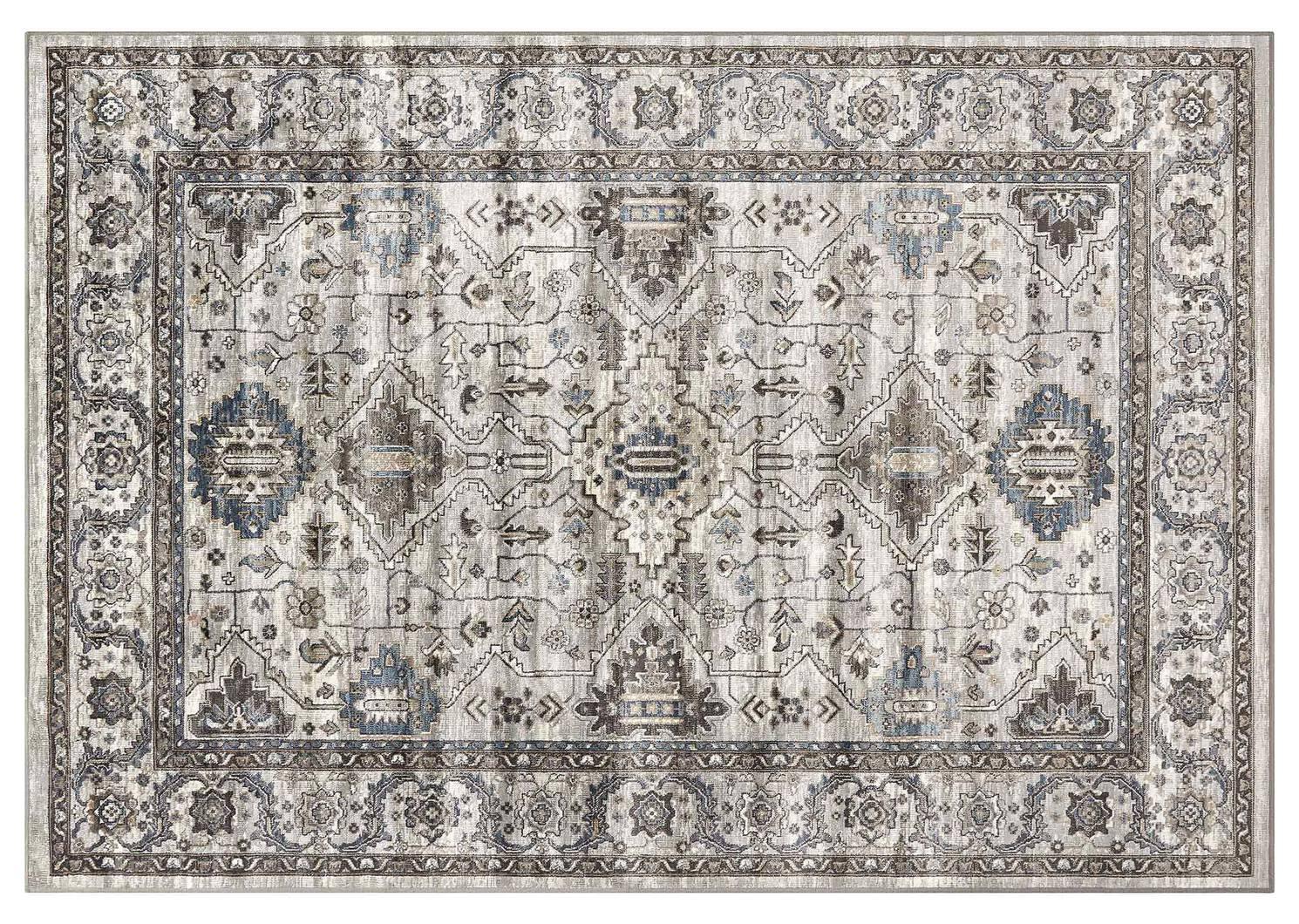 Yara Rug 63x90 Grey/Blue