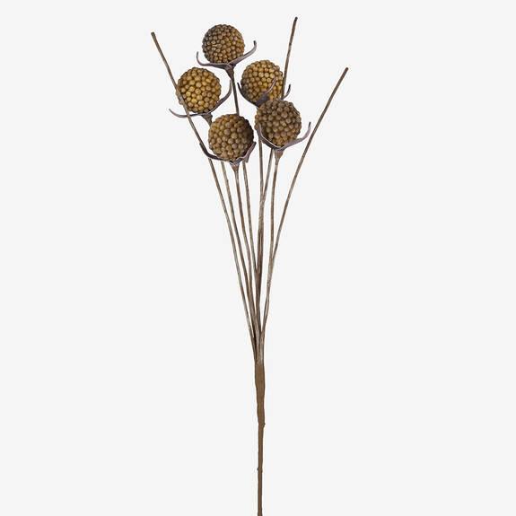 Branche de baies Freya champ doré