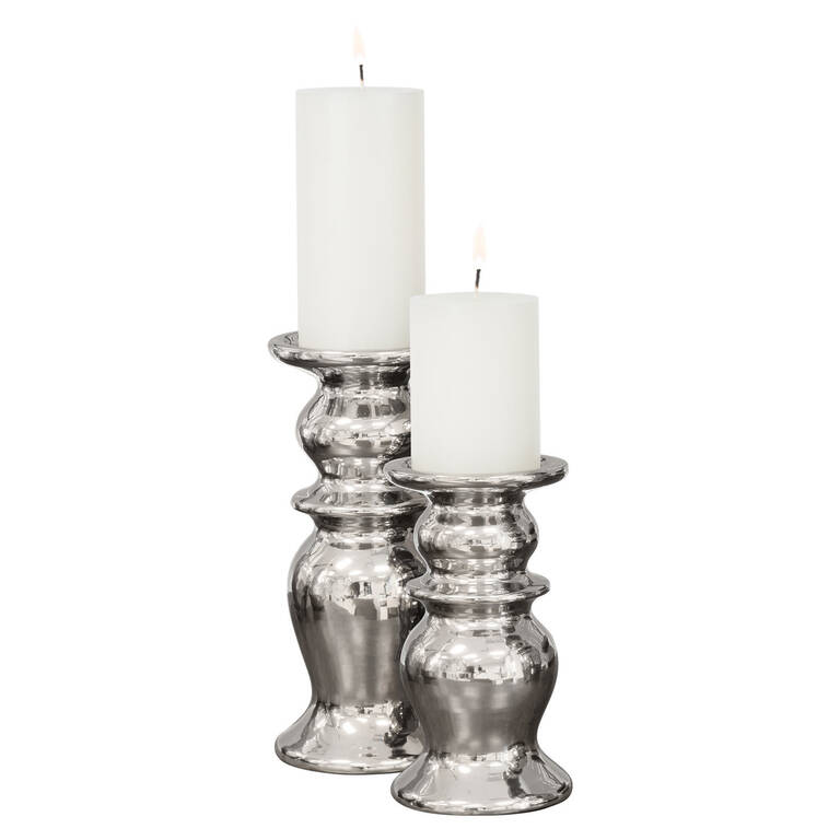 Lawson Candle Holders - Silver