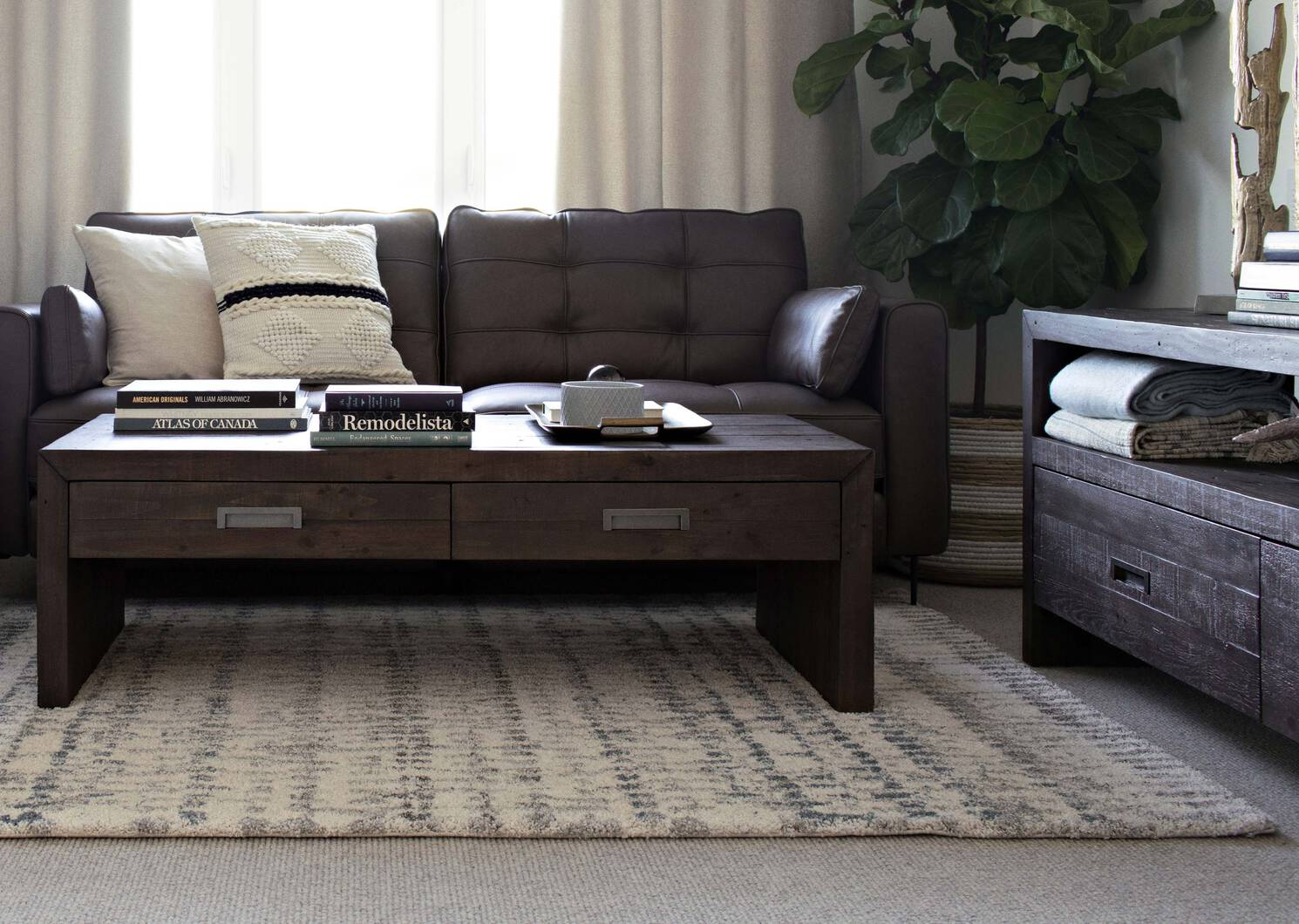 Stansfield Coffee Table -Waco Umber