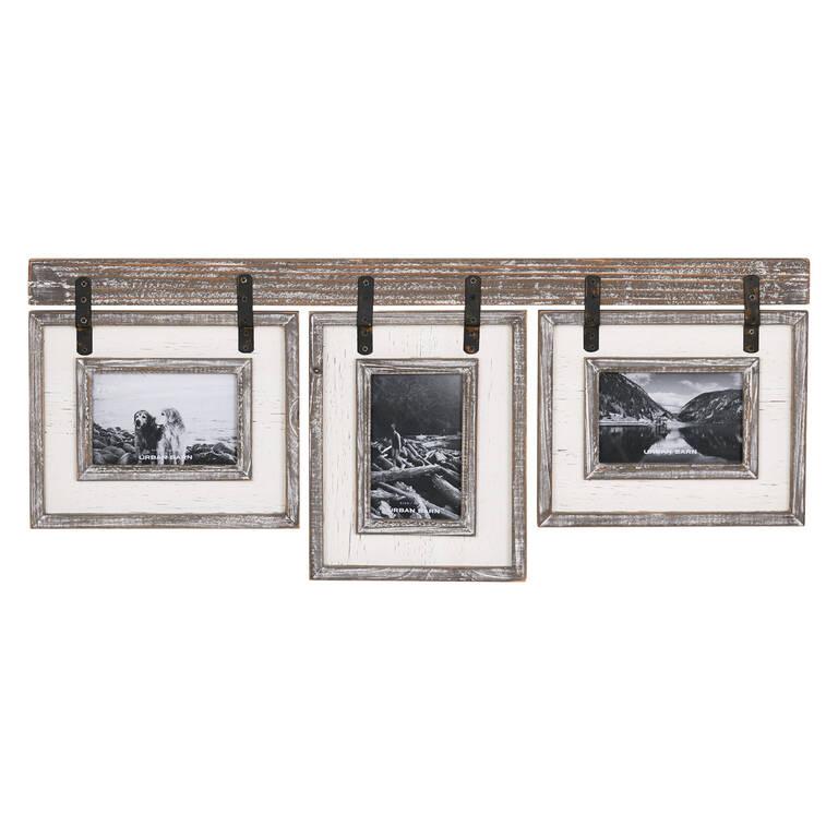 Ashworth Frame 3-4x6 Grey/White