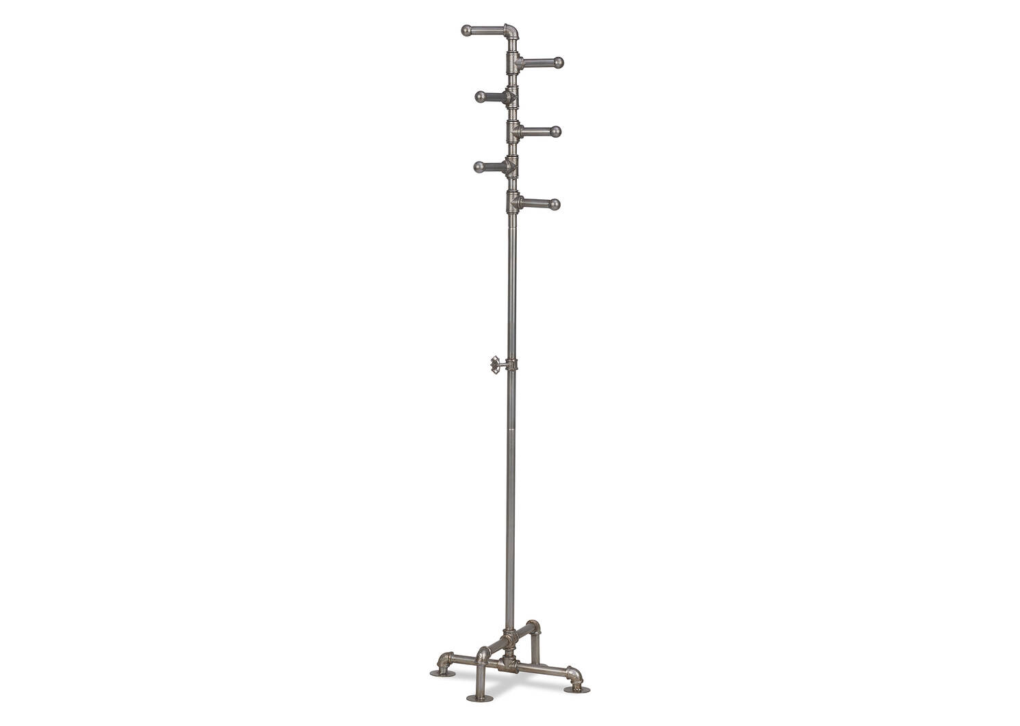 Pipeline Coat Rack Silver