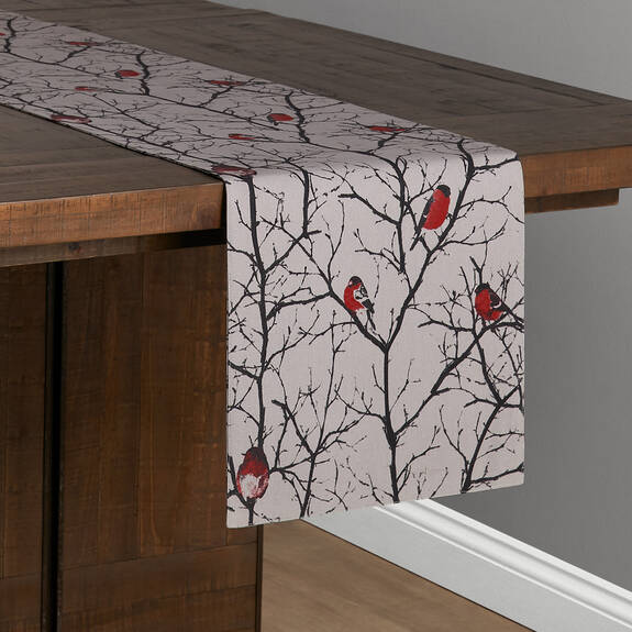 Chemin de table Bullfinch rouge