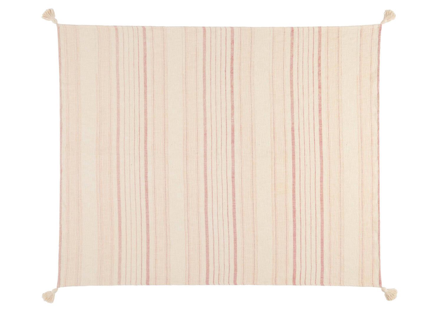 Artesia Stripe Throw Ivory/Terracotta