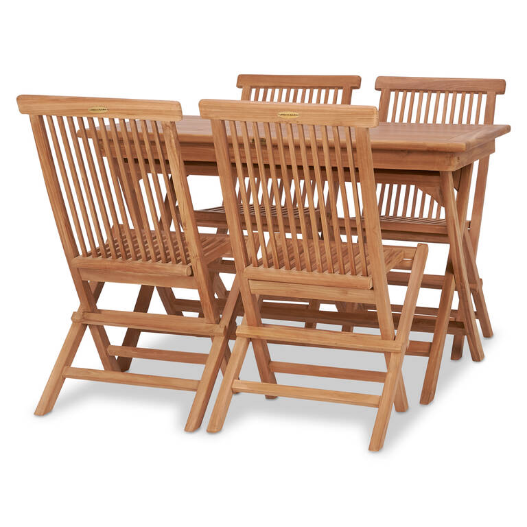 Galiano 5PC Patio Set -Teak Natural