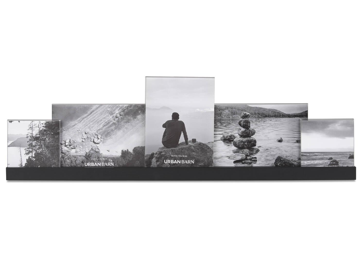 Cadre à photos multiples Nye noir