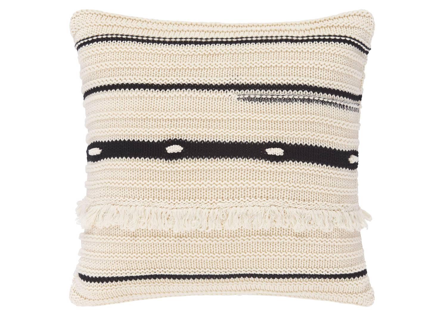 Zendaya Cotton Toss 20x20 Natural/Black