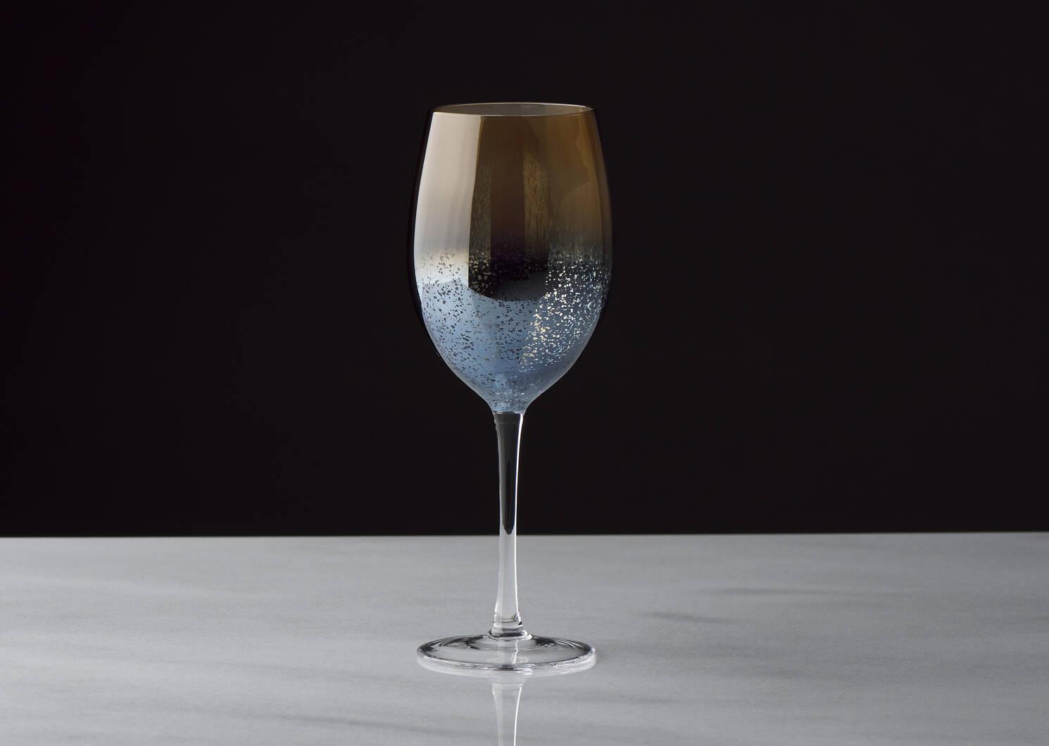 Verre à vin Rhapsody brunante/bleu