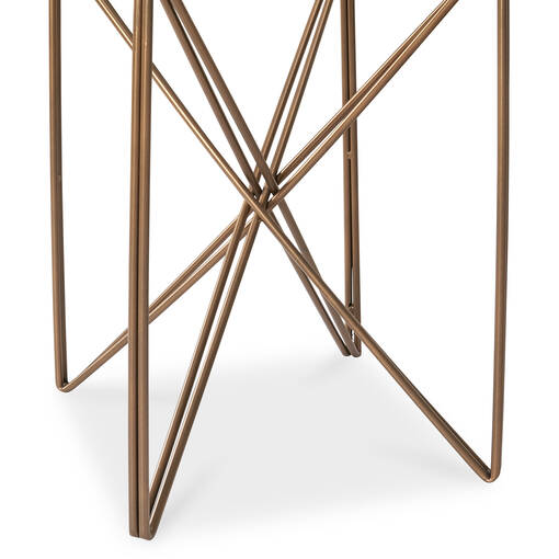Nebula Side Table -Antique Brass