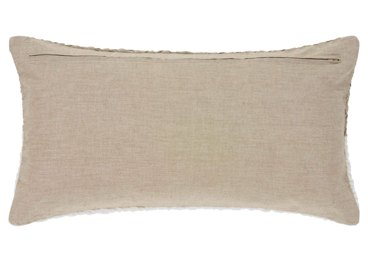 Coussin Comox 12x22 ivoire/sable