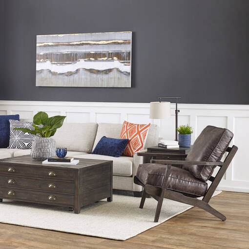 Powell Armchair -Blake Charcoal
