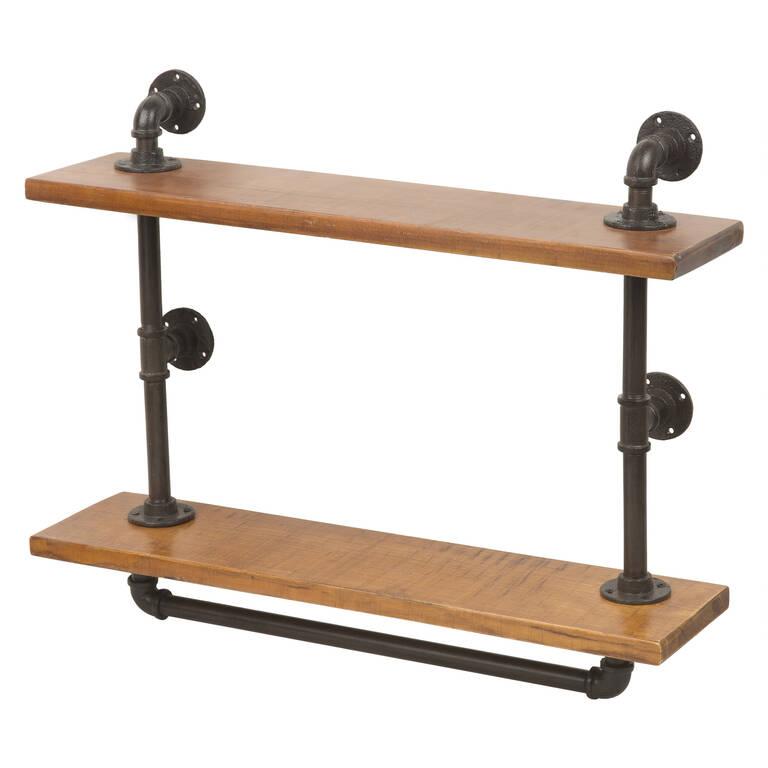 Rus Wall Shelf Iron/Wood