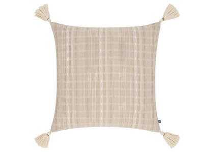 Coussin rayé Hayes 20x20 muscade/crème