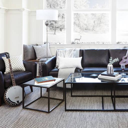 Henderson Leather Armchair -Tio Licorice