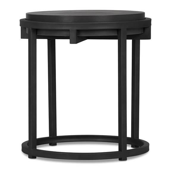 Crete Round Side Table -Ida Black