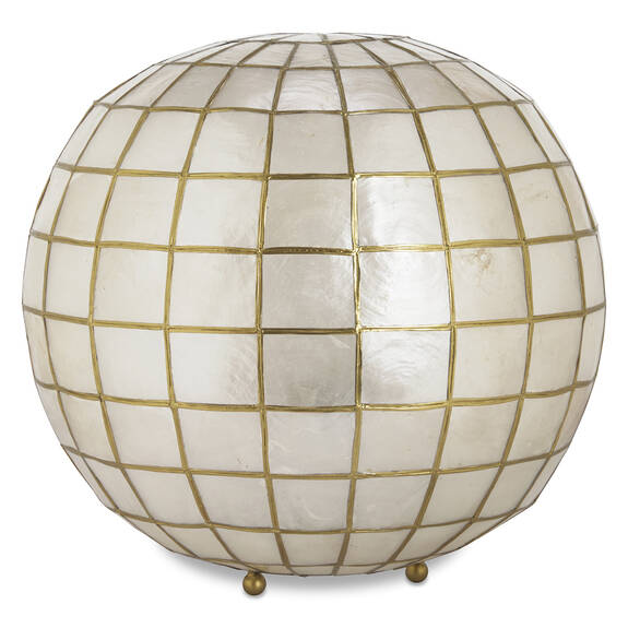 Ensley Capiz Ball Lamp