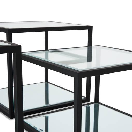 Brady Coffee Table Set -Black