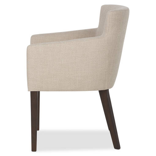 Jenaya Arm Dining Chair -Daylin Flax