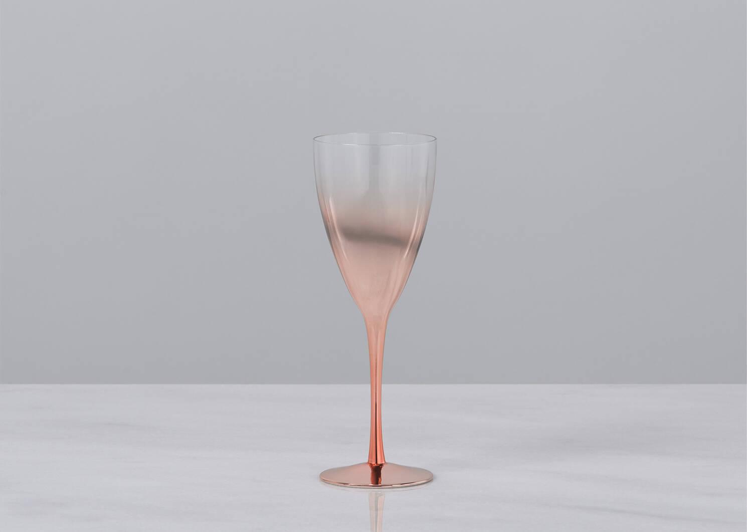 Verre à vin Soirée cuivré
