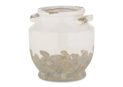 Petit vase Emmaline blanc/gris