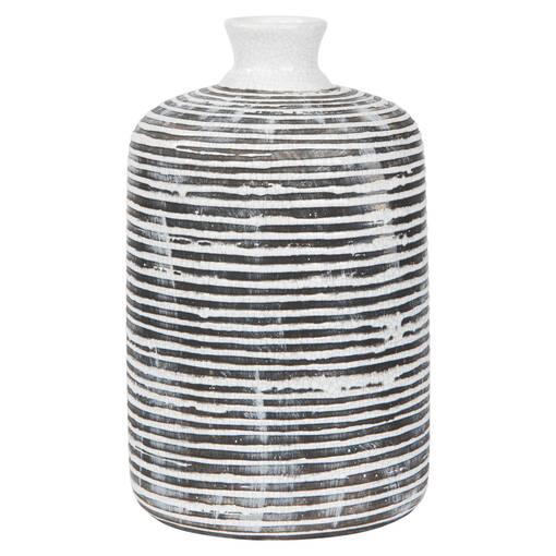 Maddy Vase Large Black/White