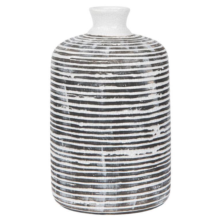 Grand vase Maddy noir/blanc