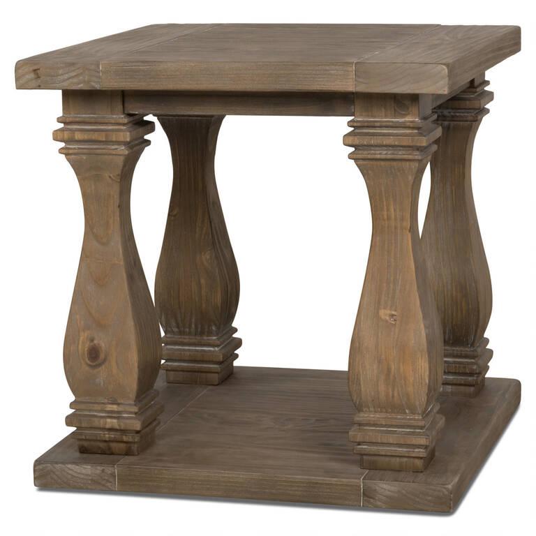 Sussex Side Table -Brulé Pine