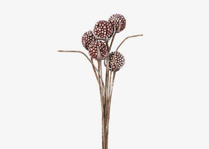 Branche de baies Freya rouge amaryllis