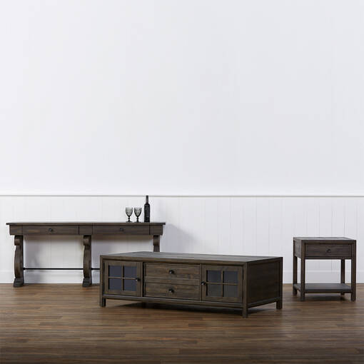 Table d'appoint Churchill -caroube