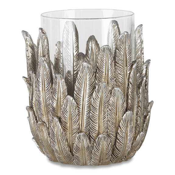 Michah Candle Holder Silver