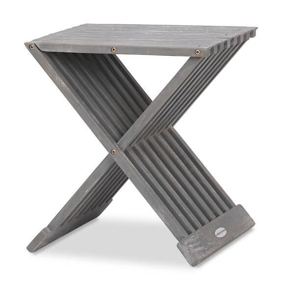 Galiano Side Table -Teak Grey
