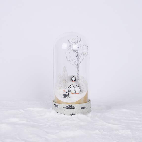 Penguin Party Cloche LED