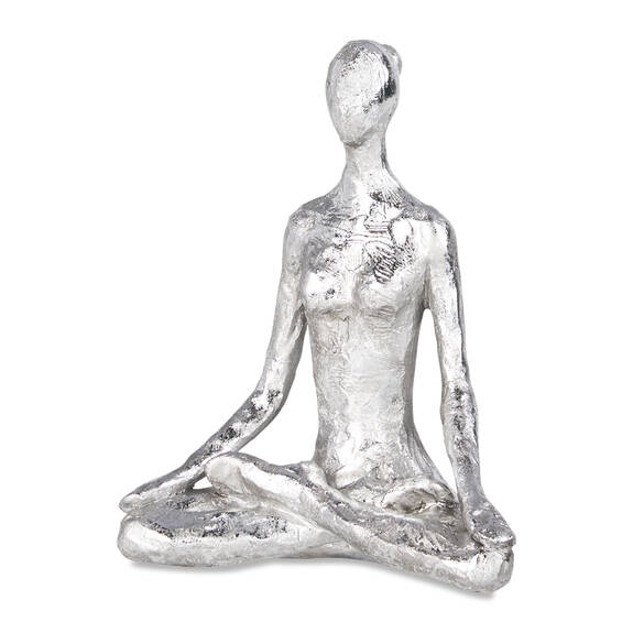 Yoga Lotus Decor Silver